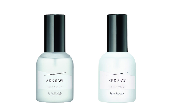 CLEAR OIL 左から、SEE/SAW クリアオイルシャープ、SEE/SAW クリアオイルフラット